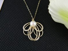 Bridesmaid Gifts - Elegant Bow Gold Filled, Bridesmaid Necklace, Wedding Jewelry, Birthday Gift, $25