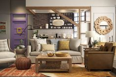 Interior design startup Modsy recreated Monica's apartment from the TV show friends and redecorated it for the modern day. Monicas Apartment, Friends Apartment, Apartment Makeover, Style Deco, Best Interior, Rustic Design, Apartment Therapy, Studio Apartment, Apartment Design