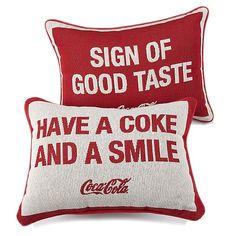 HSN Exclusive Coca-Cola Pillows.  Love, love, love!