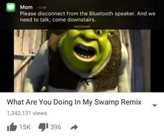 32 Hilarious Shrek Memes - We share because we care. A resource for sharing the latest memes, jokes and real stuff about parenting, relationships, food, and recipes Memes Humor, Shrek Memes, Shrek Funny, Humor Quotes, Shrek Quotes, Meme Meme, Funny Shit, Funny Posts, Funny Stuff