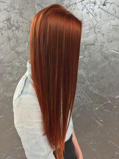 Redhead, long hair