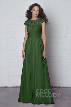Luxurious Sheath-Column Illusion Natural Floor Length Lace/Chiffon Cap Sleeve Zipper Dress with Draped LOZF1503E