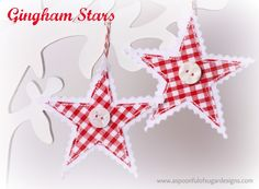 Gingham Stars | A Spoonful of Sugar
