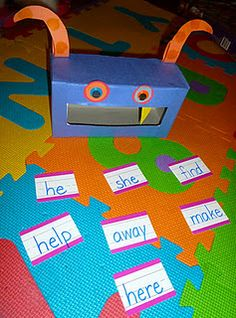 If the student reads the sight word correct, uses it in a sentence, etc, they can feed the monster.