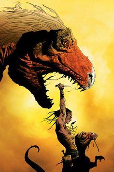 Turok The Dinosaur Hunter por Jae Lee Comic Book Artists, Comic Book Characters, Comic Artist, Comic Character, Comic Books Art, Main Character, Geeks, Dinosaur Hunter, Jae Lee