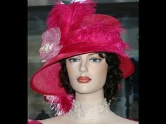 """Buy your hat here:  http://www.eastangelharbor.com/flapper-hats-2.shtml  """"Mademoiselle Nicole"""" Flapper Gatsby Hat for Kentucky Derby or Roaring 20's party!  My Flapper hat and Gatsby hat designs are works of art!   Because each of my Flapper hats is handmade by me, the hat may vary slightly from the hat pictured.    A lot of my Flappr hats are 'one ..."""