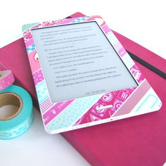 DIY - Wrap your favourite electronic device in Washi Tape + Gelaskins