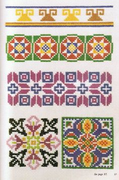 (1) Gallery.ru / Photo # 2 - Ondori - Cross Stitch Designs - svjuly Cross Stitch Borders, Cross Stitch Designs, Cross Stitching, Cross Stitch Embroidery, Embroidery Patterns, Cross Stitch Patterns, Bead Loom Patterns, Peyote Patterns, Chart Design