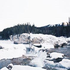 """It's a winter, waterfall, wonderland."""
