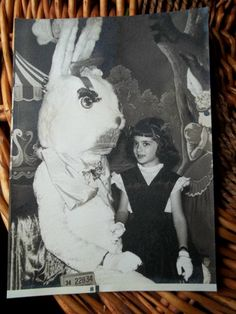 another creepy vintage  Easter bunny
