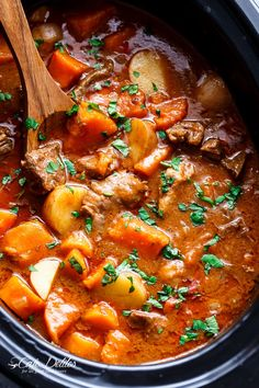 Slow Cooker Beef & Sweet Potato Stew