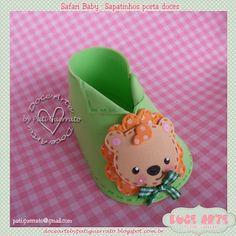 Apostilas Doce Arte: 352 - Apostila Sapatinho porta doces Safari Baby