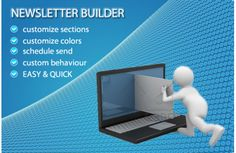 Newsletter Builder allow you to customize everything: - sections included as : special offers, new arrival, besteseller, auto import products from a category or choose products yourself; - colors: choose your colors for newsletter - functions like: pre Logo Facebook, Schedule, Behavior, Extensions, Twitter, Colors, Link, Products, Timeline