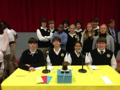 One of the high school teams at the Hi-Q Academic Competition at B.C. Rain High School in Mobile, Alabama