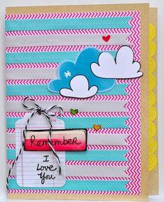 Remember I Love You - by Elizabeth Gardner using Amy Tangerine Sketchbook from American Crafts.