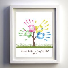 Fathers Day Gift - DIY Child's Handprint Tree - Printable PDF or JPG - Kids Craft Project -. $3.00, via Etsy.