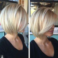 21 Best Bob Haircuts for Fine Hair 2018 – 2019 iHairstyles Website - Kurzhaarfrisuren Blonde Bob Hairstyles, Short Bob Haircuts, Short Hairstyles For Women, Popular Hairstyles, Hairstyles 2018, Black Hairstyles, Braided Hairstyles, Graduated Bob Haircuts, Fine Hairstyles