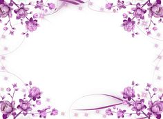 Transparent Pink Flowers Frame