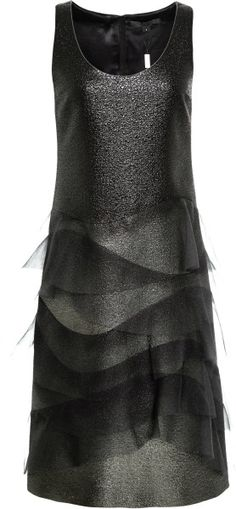 Marc Jacobs Ruffled Metallic Ombre Dress