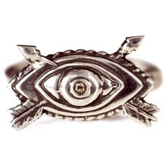 Diamond Oculus Arrow ring by Pamela Love.