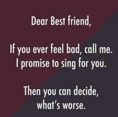 Funny Best Friend Quotes Short