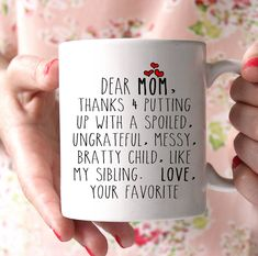 Dear Mom Mug – Shirtoopia