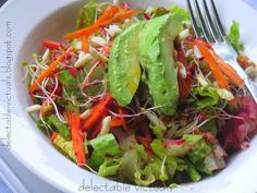 Carrots, Beets, Avocado and Almonds Salad