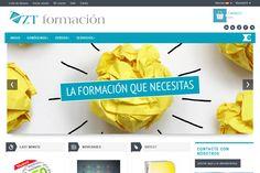 Diseño web para ZT formación. #zesis #zaragoza #marketing #diseñoweb #ztformacion