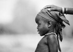 Mucubal Girl With Headscarf, Virie Area, Angola ©  Eric Lafforgue, via Flickr