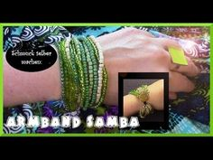Bracelets made from seed beads with button closure