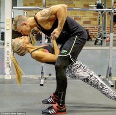 Jesper Lekland and Amanda Wallander from Stockholm, Sweden have devised a synchronised workout routine that rewards them with a kiss at the end of each rep