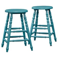 Cottage Road Counter-Height Stool (Set of 2) - Peacock Blue - Sauder : Target