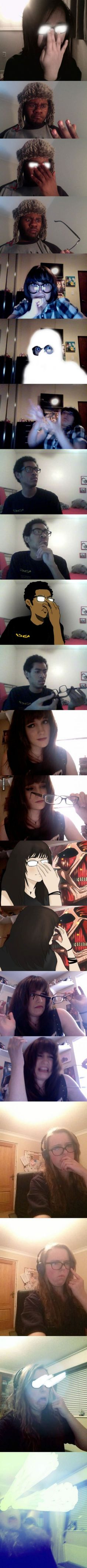 People doing the anime glasses thing