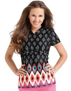 If your facility allows scrubs with prints. we think this is one of the coolest scrub tops we've seen in awhile! (MoRockin Nights print with a flattering crossover banded v-neck and short set-in sleeves) Dental Scrubs, Medical Scrubs, Nursing Scrubs, Medical Uniforms, Work Uniforms, Lab, Cute Scrubs, Dental Assistant, Dental Hygienist