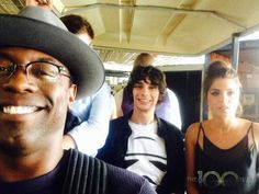 Isaiah Washington & Devon Bostick & Marie Avgeropoulos