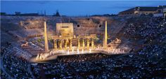 From 22nd June until 2nd September 2012 6 important operas for the 90th Opera Festival at the Arena di Verona: Don Giovanni, Aida, Carmen, Romeo and Juliette, Turandot and Tosca.