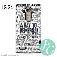 a day to remember Lyrics 2 Phone case for LG G4 and other cases