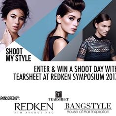 #WIN a shoot with editorial styling authority Tearsheet at Redken Symposium 2017!  Do you want to #ShootMySTYLERS17? Follow these simple rules to WIN a full Photoshoot experience! MUST FOLLOW @Tearsheets @Redken5thave @Bangstyle to enter Upload your best hair-art to IG with the Hashtag # SHOOTMYSTYLERS17 Be sure to add your CATEGORY Hashtag too! ( #Heat #Texture #Volume or #Hairspray) THREE lucky winners will be selected to receive a full photoshoot experience on site at Symposium with…