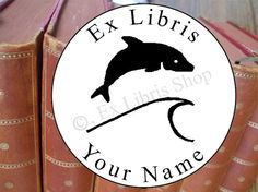 """Embossing seal or round stamp """"Dolphin"""""""