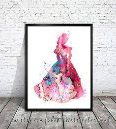 Belle Watercolor PrintDisney paintingwatercolor by WatercolorBook