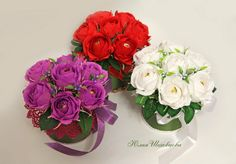 Gallery.ru / Фото #1 - Минибукетики - sks74 Diy And Crafts, Paper Crafts, Flower Pens, Paper Bouquet, Chocolate Bouquet, Crepe Paper Flowers, Christmas Crafts For Kids, Floral Arrangements, Floral Wreath