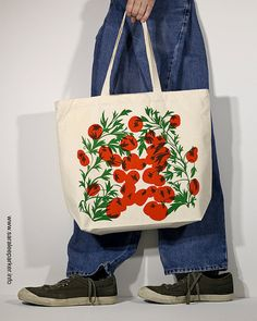 tote bag  Tomato in red by saraleeparker on Etsy