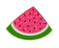 Watermelon Individual APPLIQUE Machine Embroidery by SewWithLisaB