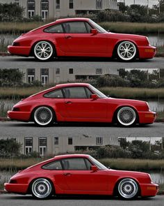 Porsche Our favourite three aftermarket rim options for a 964 - top Fifteen 52 outlaw middle Rotiform LHR and bottom BBS RS. Porsche 356, Porsche Wheels, Porsche 911 Classic, Porche 911, Porsche Cars, Custom Porsche, Bus Girl, Vintage Porsche, Top Cars