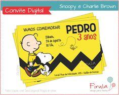 Convite Digital Snoopy   Firula Festas   Elo7