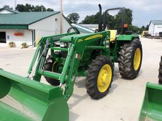 John Deere utility tractor with loader