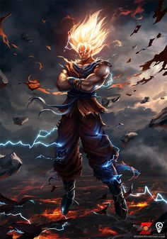 Anime Art: Goku - 2D Digital, AnimeCoolvibe – Digital Art