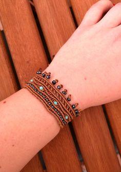 Macrame bracelet hippie boho chic