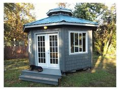 Tiny Yurt Cabin A Round Eight-Sided Adobe could be turned into a backyard man cave