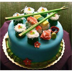 Sushi bday cake